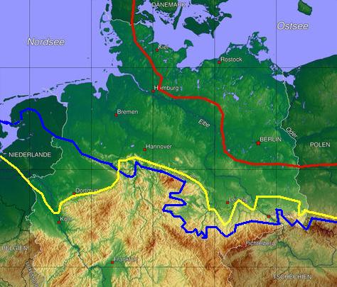 Eiszeiten Deutschland übersicht