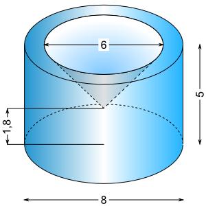 k rper berechnen aufgaben zur berechnung des volumens zusammengesetzter k rper mathe. Black Bedroom Furniture Sets. Home Design Ideas