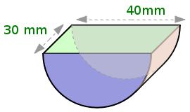Halbierter Zylinder